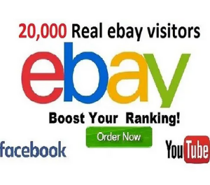 Get 20,000 Ebay Real Visitors