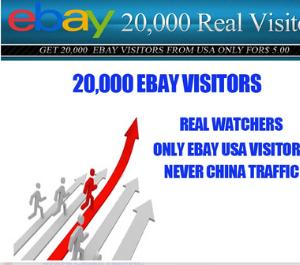 Get 20,000 Ebay Real Visitors