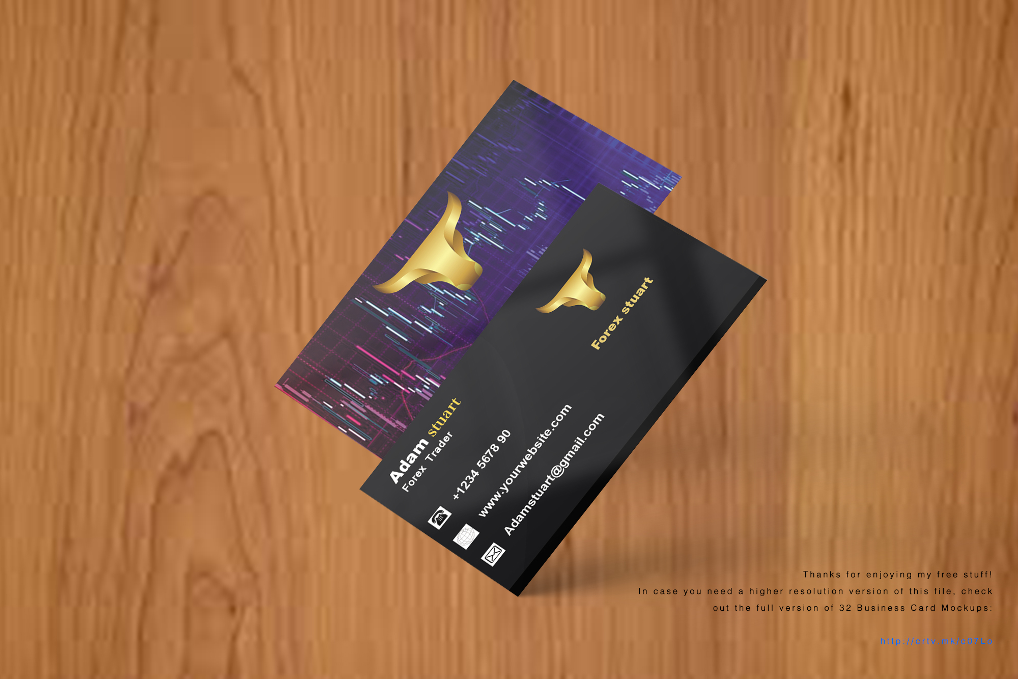 Professional a business card with high quality