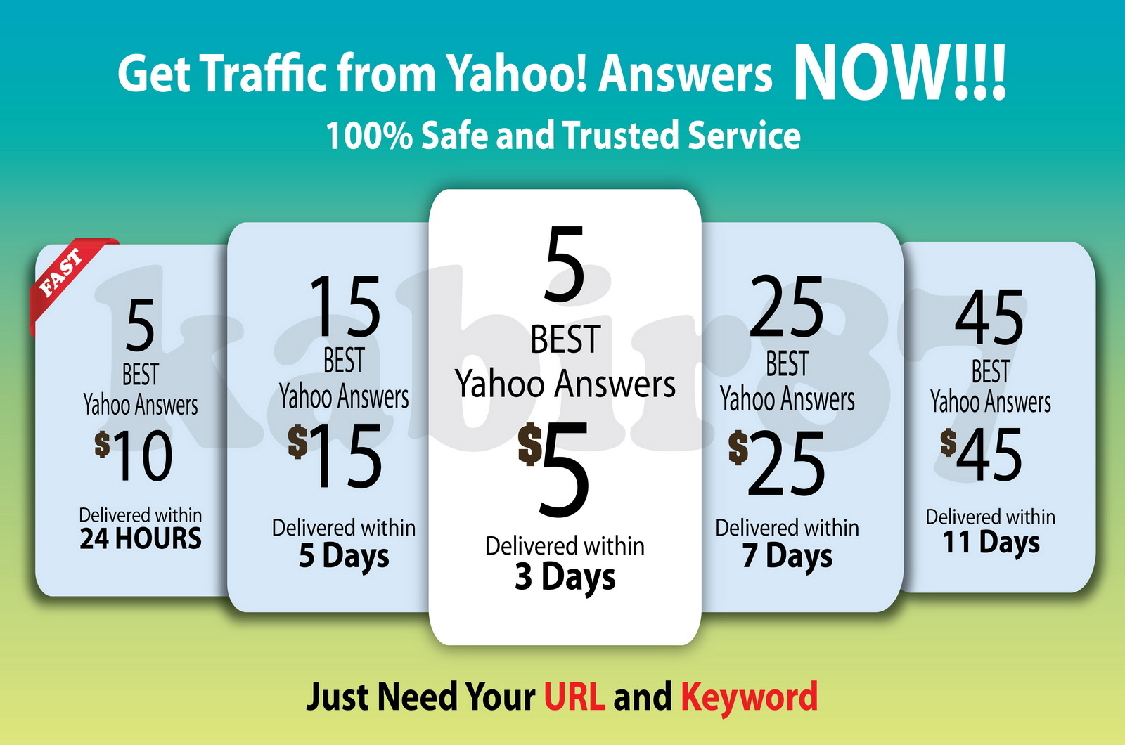 I will do 5 Best Yahoo Answers with your link from different level 2 accounts