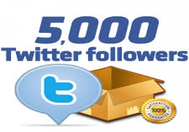 give you verified 5,000 HQ twitter followers within 12 hours
