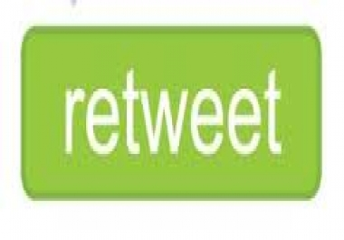 give you 1000 Twitter Retweets  in your page