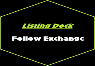 Follow Me Here On Listing Dock & I WIll Follow You Back