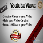 safely get you 25,000+ fast and real YouTube views on your video