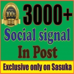 Give You 3000 Social Signal in post