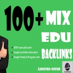 will do 100. EDU high quality relevant SEO backlinks only