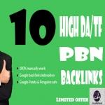 10 PBN HQ Do-Follow Homepage DA15+ TF15+ Backlinks only