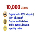 10,000 TARGETED website visitors from USA and Europe