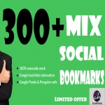 will Bookmark your site to 300 unique Social Bookmarking sites only