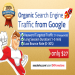 ORGANIC Keyword Targeted Search Engine Traffic from Google with Low Bounce Rate Sessions