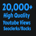 I will add 20,000+ Fast and Safe Youtube vie ws