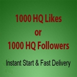 Instant 1000 High Quality Social Page Likes or Followers