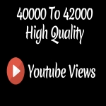 Instant 40000 to 42000 High Quality Desktop Youtube Vie ws - High Retention