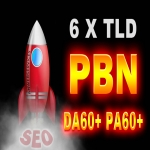 6 High DA PA PBN Contextual Backlinks On DA/PA 60+ TLD Blogs