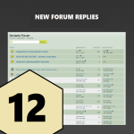 12 New Replies / Posts On Your Forum