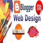 Convert Blogger Blogspot with Best Design Website with Free Domain. COM