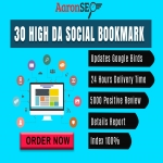 Boom Boom 30 High DA Social Bookmark for your website or blog or video-Boost Your Ranking