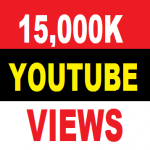 15,000 you tube view 20+ you tube lks your you tube account