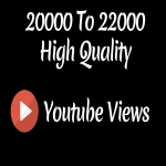 Instant 20000 to 22000 High Quality Youtube Vie ws