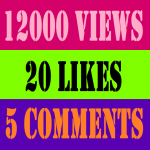 12000 HQ NON DROOP YOU TUBE VIEWS + 20 YOU TUBE LIKES + 5 COMMENTS