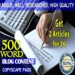 Write An Original 500 Word ARTICLE