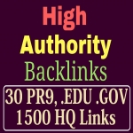 manually do 30 PR9,  EDU/GOV and 1500 Safe SEO Backlinks 2018 Best Results