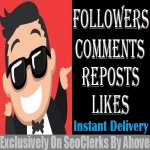 Start Instant 100 Followers Or 100 Likes Or 50 Reposts Or 20 Comments