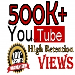 500k+ YouTube Human Viewers High Retention 100 Safe Viral SeoPromotion