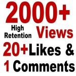 YouTube 2000 Views + 20 likes + 2 Coments SeoPromotion