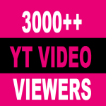 3000 + HQ High Retention Real Human Yu+Tu Viewers 100 lik es