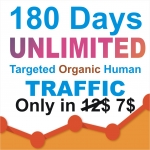 180 days UNLIMITED Keywords Targeted REAL HUMAN TRAFFIC