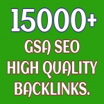 Provide 15000 GSA SEO Backlinks High Quality
