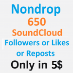 Non-Drop 650 SoundCloud Followers OR 650 Likes OR 650 Reposts