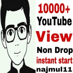 Give you 10k/10000 High Retention non drop guaranteed and safe v-iew just 24/32 hours completed