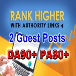 High Authority Backlink Guest Posts DA90+ PA80 Dofollow Links