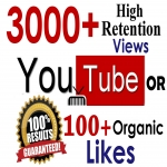 3000+ GR views or 200+ Organic likes youtube Seopromotion