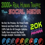 Drive 20000+ Human Web Traffic from Social Media