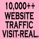I WILL SEND 10,000 REAL AND UNIQUE VISITORS TO YOUR WEBSITE FROM WORLD WIDE