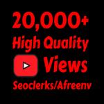 add 20000+ High Quality Youtube vie ws