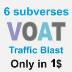 Porn Website Traffic Blast on Voat post in 6 subverses