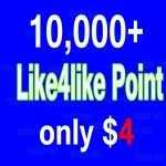 Get 10000/10k like4like for 2-5 minute