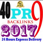 Manually Do 40 PR9 Safe SEO High Back Links for Google RANKING