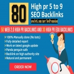 Work Manual 80+ High pr3-pr9 TOP SEO Backlinks Best for Improve Ranking