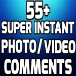 Instant start 55+ HQ Comments NON DROP on your Pictures For Popularity your Social Media