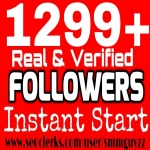 1299+ Real HQ Followers WorldWide Instant Non drop 100 pics,  100 bios,  100 Backgrounds