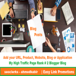 Promote your app or game on My High Traffic PR2 Blog