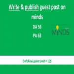Will write and publish guest post on MINDS with backlink to your website/blog