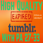 I can find you High Quality Expired Tumblrs With your Keywords