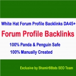 30 Dofollow Forum Profile Links to Skyrocket Website or Video DA45+