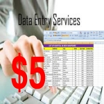 I Give you data entry work word,  excel,  notepad etc